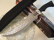 "Fantasy Master Vicious Skull Bowie Combat Knife Full Tang Sawback 16 1/2"" FM647S"