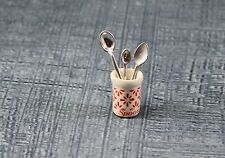 Vtg DollHouse Miniature Doll House Ceramic Spoon Cup Furniture Kitchen Accessory