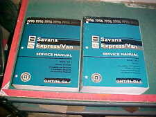 1996 CHEVROLET GMC G-VAN 1500-3500 FACTORY SERVICE MANUAL Set xlnt cond.