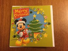 Disney's Mickey Mouse Small Christmas Greeting Card - NEW
