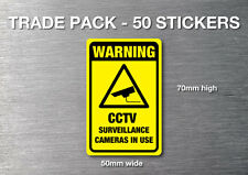 CCTV Warning stickers 50 pack quality 7 year water & fade proof vinyl security