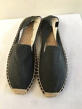 NWOB $55 SOLUDOS Smoking Slipper Canvas Espadrilles Flats Shoes Size 9, Gray