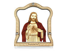 Car Frame / Stand for Dashboard - Wood Carved - Christian God Jesus - Trendy