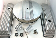 Nostalgic SB Chevy SBC Tall Polished Finned Engine Dress Up Kit  283 327 350  V8