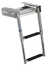 New 2-Step Under Platform Boat  Boarding Ladder, Telescoping/Stainless Steel