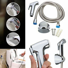 Toilet Shattaf Adapter Sprayer Handheld Bidet Shower Head Wall Bracket Hose Kit