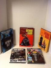 LOT OF 5 BATMAN HARDCOVER GRAPHIC NOVELS BY GRANT MORRISON DELUXE EDITION