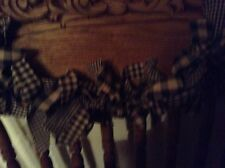 Country, primitive 9' black and tan garland, swag  hand tied