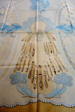 gorgeous AUTHENTIC Hermes scarf Doigts de Fee celebrating bobbin lace making