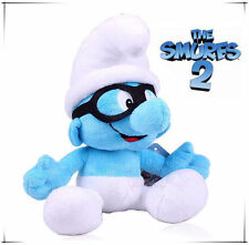 42CM LARGE BRAINY THE SMURFS PLUSH DOLL KID CHILD BABY SOFT BEAR STUFFED TOY