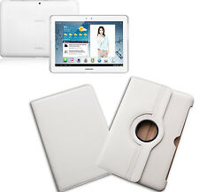 CUSTODIA CASE COVER COMPATIBILE SAMSUNG TAB P5100 10.1 TABLET ECO PELLE BIANCO