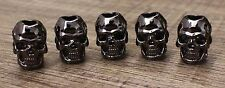 Lot 10 S Gunmetal Skull Head loose Bead Paracord Bracelets crafts Charms Spacer