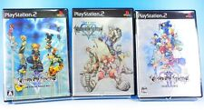 LOT OF 3 PS2 KINGDOM HEARTS SQUARE ENIX PLAYSTATION JAPAN IMPORT