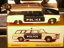 PEUGEOT 404 POLICE PARISIENNE 1970 : DINKY TOYS REEDITION ATLAS