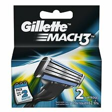 Gillette Mach3 Pack Of 2 Cartridges Shaving Blades For Razor - New Mach 3