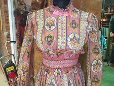 Maxi Vestido Vintage 1970s 1960s Pink