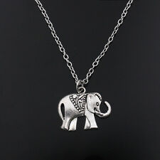 Vintage Tibetan Silve Elephant Pendant Necklace Jewellery Gift For Men Boys 1PC