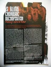 COUPURE DE PRESSE-CLIPPING :  SUBLIME CADAVERIC DECOMPOSITION  08-09/2007 Seb