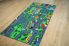 Large Children's Rug 94cm x 164cm Play Mat Car Village Racing Car Road Rug