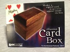 Illusion Card Box - Spectator's Signed Card Vanishes and Appears Inside Box!