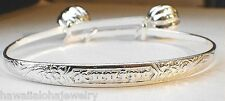 5mm Hawaiian STER Silver Keiki Child Kuuipo Heritage Scroll Baby Bracelet Adjust