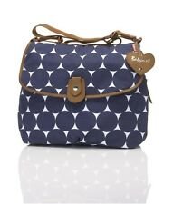 NEW BABYMEL Navy Jumbo Dot Designer Baby Nappy Diaper Bag & Changing Mat Set
