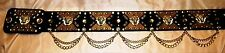 ELVIS STYLE BLACK & GOLD 70S STYLE  MULTY PURPOSE CONCERT BELT.. WOW