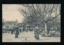 France French Riviera CANNES Allees de la Liberte nice early cars c1900s? PPC