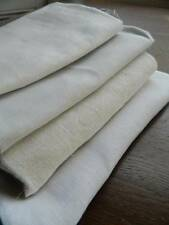 Bundle 4 lengths of antique white Irish linen fabric.