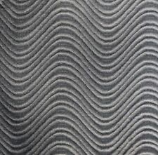 """WAVE SWIRL FLOCKING VELVET UPHOLSTERY FABRIC 60""""W 19 COLOR BY THE YARD FREE SHIP"""