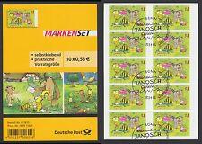 Bund Folienblatt 28 gest Janosch Zeichnungen 10 x Nr. 2996 Tigerente 2013 ESST