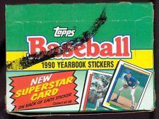 1990 Topps Sticker Yearbook Unopened Wax Box - 48 packs 5 stickers per