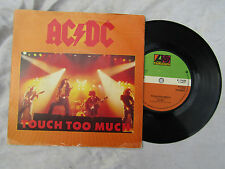 AC DC TOUCH TOO MUCH ep reverse image sleeve Atlantic 11435........ 45rpm / rock