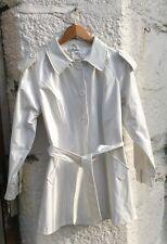 Abrigo de PVC blanco Talla 10