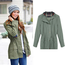 Warm Women Hooded Long Sleeve Coat Jacket Trench Windbreaker Parka Outwear Coats