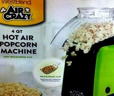 Hot Air Popcorn Maker West Bend Air Crazy Green Black No Oil Air Corn Popper 4qt