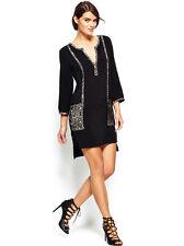NWOT US$198 AU$269 BCBGMAXAZRIAWibby Woven Shirtdress - Black Sz S-M AU10-12