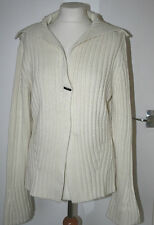 Principles UK16 EU44 new cream chunky long-sleeved cardigan with single button