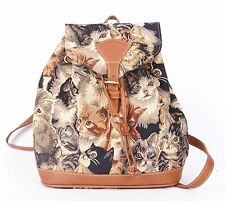"""Tapestry Signare """"Cats & Kittens"""" Small Backpack or Rucksack"""