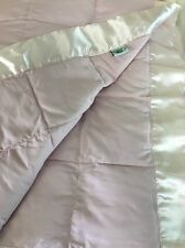 LAURA ASHLEY Down Alternative Blanket Pink Quilted Microfiber King 107 x 96  DF