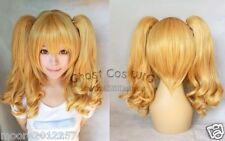 New Fashion Long Dark Blonde Cosplay Wavy Wig Ponytails