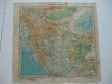 mappa Paravia 1949 - balcani jugoslavia bulgaria albania grecia creta rodi
