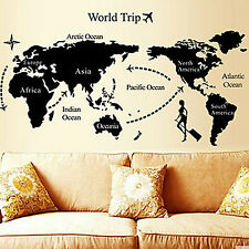 Removable World  Map Art Wall Sticker Vinyl Decal Mural home room Decor hot