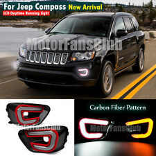 LED Daytime Running Light For Jeep Compass Fog DRL 2013 2014 2015 Turn Signal