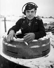 WWII B&W Photo German Tiger Commander Pzkpfw. VI   WW2 / 2154