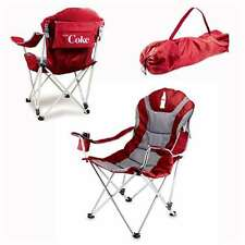Reclining Camp Chair - Red (Coca-Cola) Silkscreen Tailgate Reclining Camp Chair