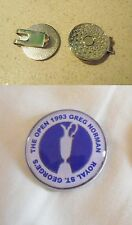 1 ONLY GREG NORMAN  BRITTISH OPEN  1993 GOLF BALL MARKERS AND CLASSY  HAT CLIP