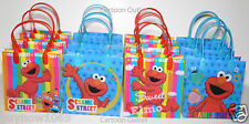 12 PC ELMO PARTY FAVORS GIFTBAG GOODY CANDY BAG FAVORS SESAME STREET PARTY BAGS