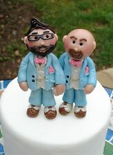 Gay  Wedding cake toppers -personalised by Jillybeans -cake-toppers