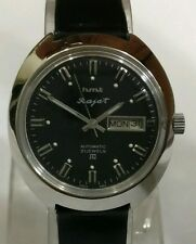 HMT RAJAT 21 JEWELS VINTAGE AUTOMATIC WATCH~BLACK DIAL